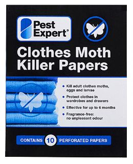 Clothes Moth Killer Papers. Clothes Moth Killer Strips.